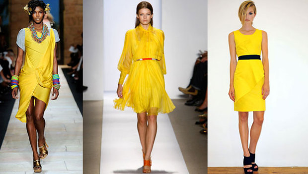 2010 yazında sarı çok moda